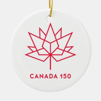 Ornamento De Cerâmica Logotipo do oficial de Canadá 150 - esboço