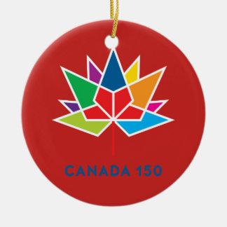 Ornamento De Cerâmica Logotipo do oficial de Canadá 150 - multicolorido