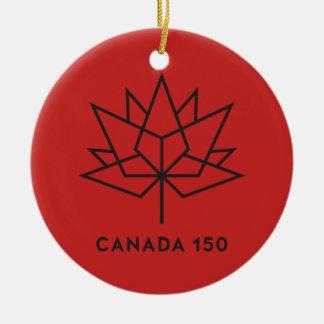 Ornamento De Cerâmica Logotipo do oficial de Canadá 150 - vermelho e