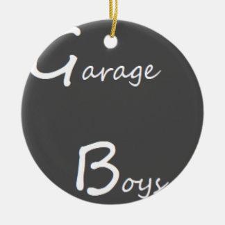 Ornamento De Cerâmica Logotipo dos meninos da garagem