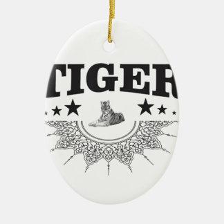 Ornamento De Cerâmica logotipo extravagante do tigre