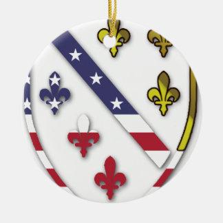 Ornamento De Cerâmica Logotipo feito sob encomenda claro do design da