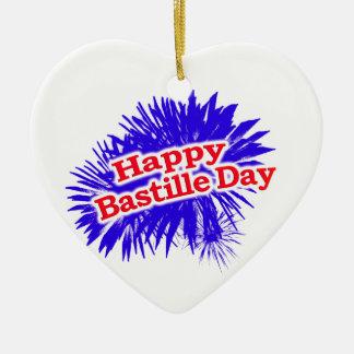 Ornamento De Cerâmica Logotipo feliz do gráfico do dia de Bastille
