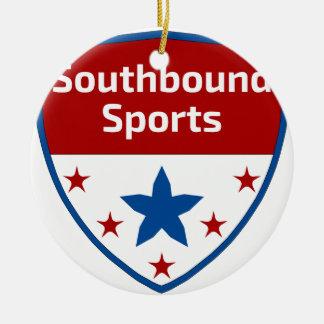 Ornamento De Cerâmica Logotipo Southbound da crista dos esportes