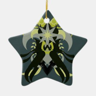Ornamento De Cerâmica Loki da abstracção sete