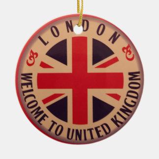 Ornamento De Cerâmica Londres - Union Jack - boa vinda a Reino Unido
