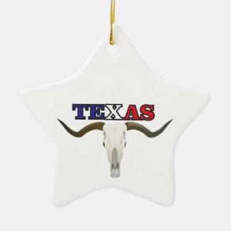Ornamento De Cerâmica longhorn inoperante de texas