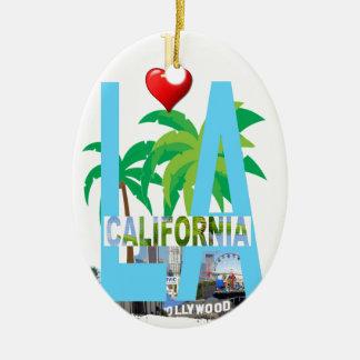 Ornamento De Cerâmica Los Angeles l uma cidade EUA América de Califórnia