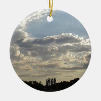 Ornamento De Cerâmica Lotes das nuvens