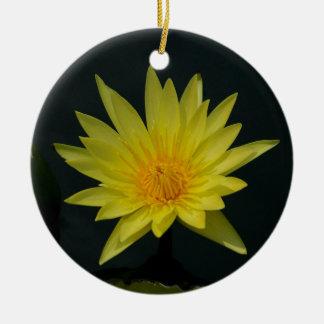 Ornamento De Cerâmica Lotus amarelo Waterlily