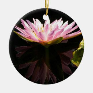 Ornamento De Cerâmica Lotus cor-de-rosa Waterlily