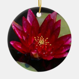 Ornamento De Cerâmica Lotus magenta Waterlily