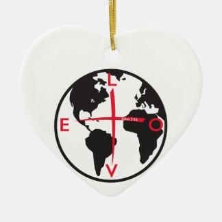 Ornamento De Cerâmica LoveGlobe316 - fundo branco