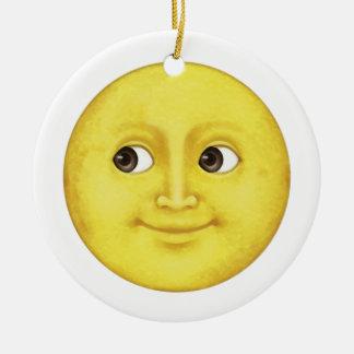Ornamento De Cerâmica Lua amarela - Emoji
