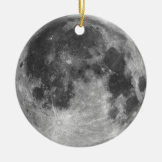 Ornamento De Cerâmica Lua cheia