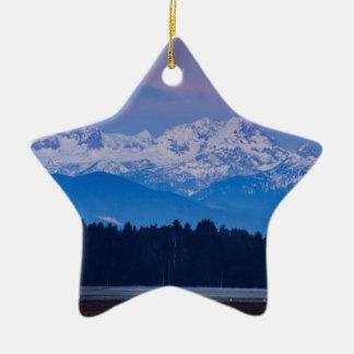 Ornamento De Cerâmica Lua cheia que ajusta-se sobre os cumes julianos