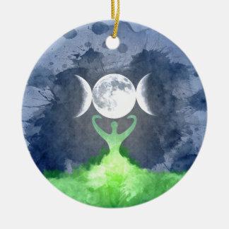 Ornamento De Cerâmica Lua da deusa de Mãe Terra de Wiccan