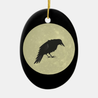 Ornamento De Cerâmica Lua do corvo de Rabe Mond