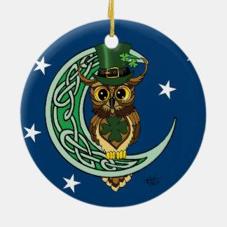 Ornamento De Cerâmica Lua irlandesa