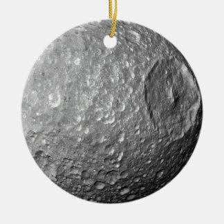 Ornamento De Cerâmica Lua Mimas de Saturn