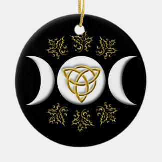 Ornamento De Cerâmica Lua tripla & Tri-Quatra #1