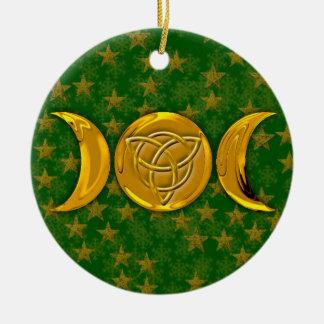 Ornamento De Cerâmica Lua tripla & Tri-Quatra #3