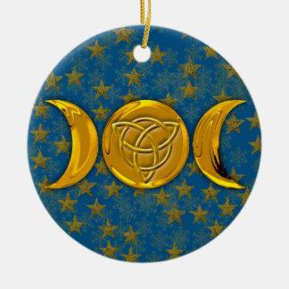 Ornamento De Cerâmica Lua tripla & Tri-Quatra #5