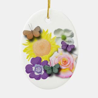 Ornamento De Cerâmica Lugar frequentado da borboleta