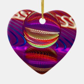 Ornamento De Cerâmica Luminosidade na bola de cristal
