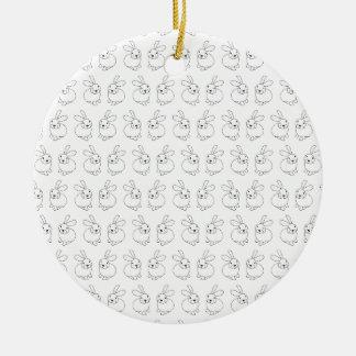 Ornamento De Cerâmica Lupulagem tatty bonito dos coelhos de coelho louca