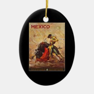 Ornamento De Cerâmica Luta Matador de México Bull das viagens vintage