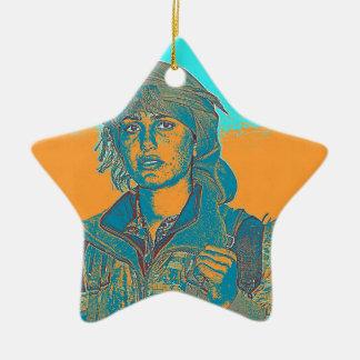 Ornamento De Cerâmica Lutador curdo 5 de YPJ