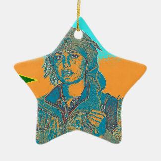 Ornamento De Cerâmica Lutador curdo 6 de YPJ
