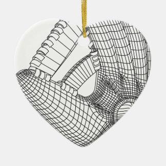 Ornamento De Cerâmica luva de basebol