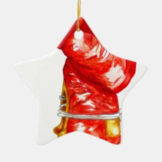 Ornamento De Cerâmica Luva de encaixotamento vermelha