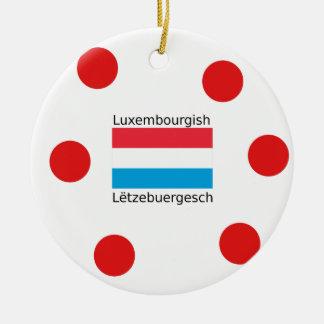 Ornamento De Cerâmica Luxembourg embandeira e design luxemburguês da