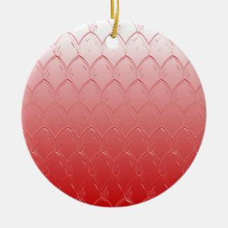 Ornamento De Cerâmica Luz à obscuridade - escalas do vermelho