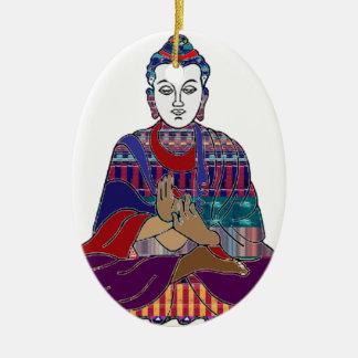Ornamento De Cerâmica LUZ amável do AMOR da paz do budismo de BUDDHA