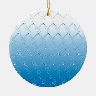 Ornamento De Cerâmica Luz às escalas azuis escuro