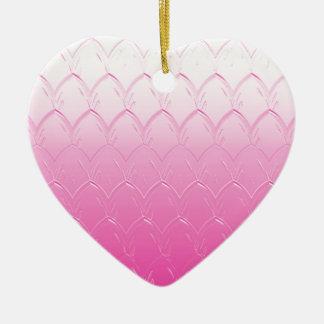 Ornamento De Cerâmica Luz às escalas cor-de-rosa escuras
