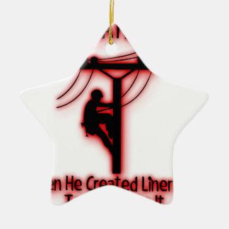 Ornamento De Cerâmica Luz criada deus - bíblia engraçada, design do