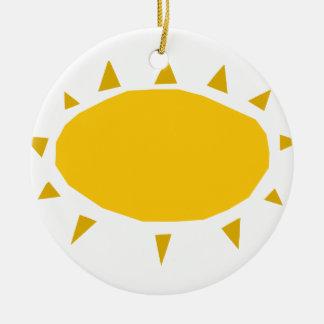 Ornamento De Cerâmica Luz do sol, Sun que brilha, desenhos animados