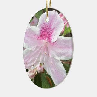 Ornamento De Cerâmica Luz - flor cor-de-rosa
