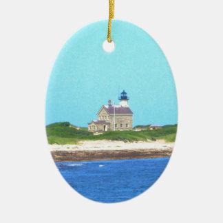 Ornamento De Cerâmica Luz norte de ilha de bloco
