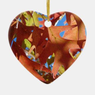 Ornamento De Cerâmica Luz solar através das folhas de outono