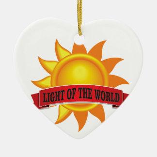 Ornamento De Cerâmica luz vermelha do mundo