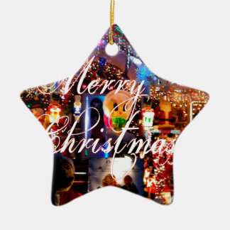 Ornamento De Cerâmica Luzes do Feliz Natal na casa