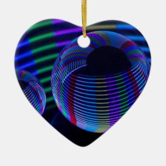 Ornamento De Cerâmica Luzes espirais no cristal