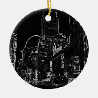 Ornamento De Cerâmica Luzes urbanas do Times Square da Nova Iorque da