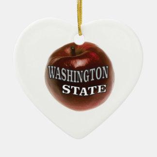 Ornamento De Cerâmica Maçã do vermelho do estado de Washington